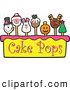 Vector Illustration of Cake Pops and Tier by Toons4Biz