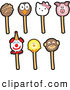 Vector Illustration of Cartoon Cake Pops by Toons4Biz