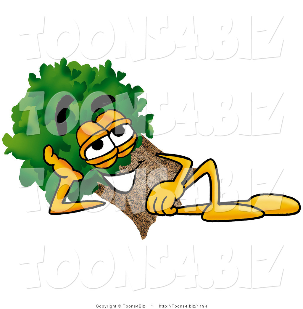 Illustration Of A Cartoon Tree Mascot Resting His Head On His Hand By Toons4biz 1194 Mascot character illustration for a stock trading website specializing in info about zombie stocks. yes, zombies are so popular right now, that they even have stocks named after them. cartoon tree mascot resting his head